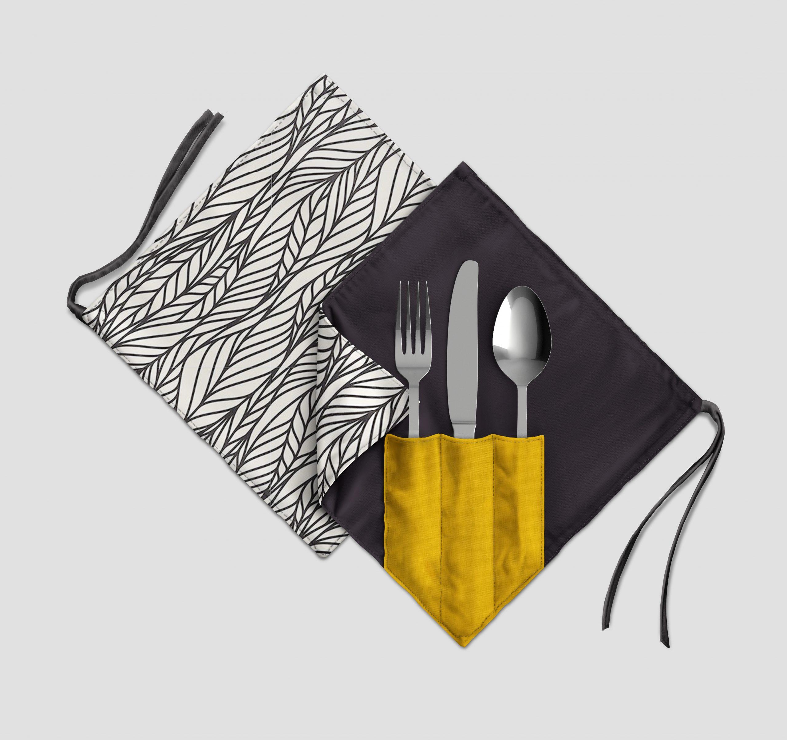 Diferenciación en tu restaurante – Porta Cubiertos de tela