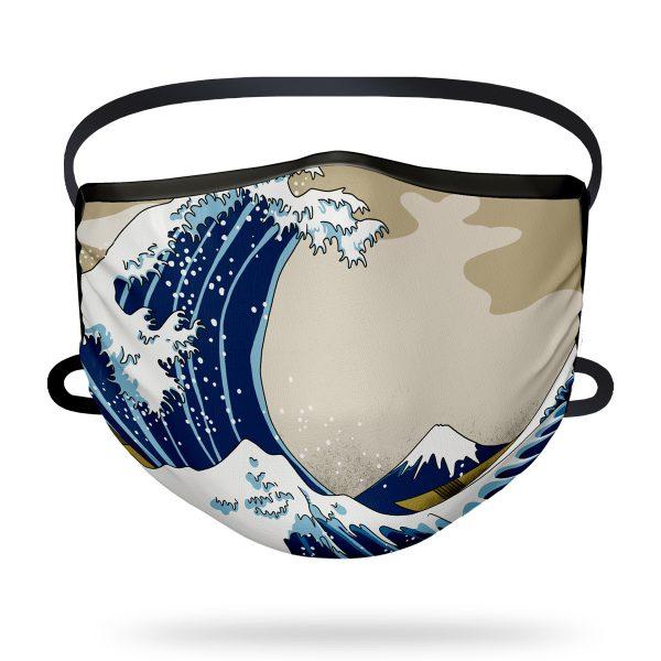 Mascarilla higiénica Con Arte - Ola Japón