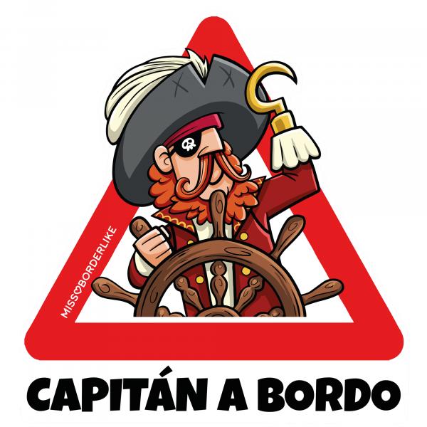 Vinilo de coche Capitán a bordo